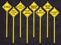 Tichy O Scale Written Warning Signs #2077  8 pack
