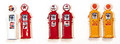 JL Innovative HO Scale Custom Gas Pumps Pre-painted and labeled Deluxe Texaco #514