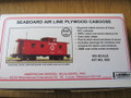 AMB LaserKits HO Scale Seaboard Air Line SAL Wood Side Caboose Kit #860