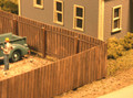 AMB LaserKits HO Scale Wood Privacy Fence Kit #334