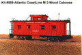 AMB LaserKits HO Scale ACL M-3 Caboose Kit 859