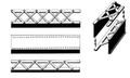 Central Valley HO Scale #1902-5  Heavy Duty Bridge  Girders Three Styles