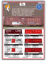 Fox Valley 7 Post Box Car - CSXT Box Car Red HO Scale 134261
