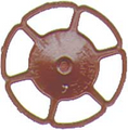 Kadee HO Scale Miner Brake Wheels 8 pack Red Oxide #2032