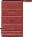 Kadee HO Scale 6 ft Door 5 Panel Superior High Tackboard Red Oxide #2205