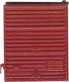 Kadee HO Scale 8 ft Door Youngstown Low Tackboard Red Oxide #2220