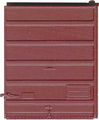 Kadee HO Scale 8 ft 6 Panel Superoir Low Tackboard Red Oxide #2230