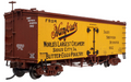 Atlas HO Scale 36ft Wood Reefer RTR Hanford's Creamery Sioux City Ia #662