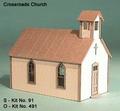 AMB LaserKits S Scale Crossroads Church Kit #91