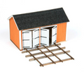 AMB LaserKits HO Scale Cullen Hand Car Shed Kit #191