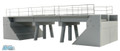 BLMA HO Scale Modern Concrete Segmental Bridge Set B #4391