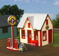 AMB LaserKits O Scale Gas Station with Pumps  Kit #492