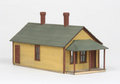 AMB LaserKits O Scale One Story Section House Kit #481
