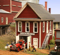AMB LaserKits N Scale Hillview Volunteer Fire Company Kit #647