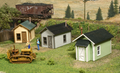 AMB LaserKits HO Scale Miner's Cabin  Kit #722   Three Pack