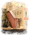 Bar Mills HO Scale Kit #405 Covered Stairwells 2 Pack