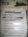 TCS WOW Sound Decoder #1516 Steam with 9-Pin JST Connector SMALL
