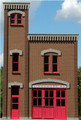 GC Laser O-SCALE Firehouse #3 Backdrop Building Flat Kit #390241 No Painting Required!
