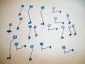 NJ International HO Scale Blue Safety Sign Set #1308 19 pieces