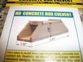 "Blair Line HO Scale Laser Cut Concrete Box Culvert Kit 1"" fill Single Track #2807"