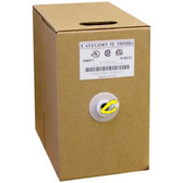 1000Ft Cat.5E  Bulk Cable Solid Wire Yellow CMR
