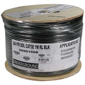 1000Ft Cat.5E UTP Outdoor Direct Burial Cable Black