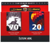 Lexmark Combo Pack Ink Cartridges 70 BW 20 Color