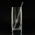 Etched Highball Glass Straw