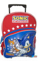 Sonic The Hedgehog Large 16 Inch Rolling Backpack Wheels Bag School W Tails