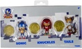 """Sonic 25 Anniversary 2.5"""" Plastic Action Figure W Coins Sonic, Knuckles, Tails"""