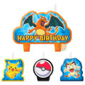 Pokemon Molded 4 Piece Candle Set - Pikachu and Friends