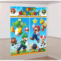 Super Mario Brothers Giant Scene Setters Wall Decorating Kit