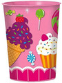 12X Sweet Shop Plastic 16 Ounce Reusable Keepsake Favor Cup ( 12 Cups )