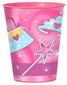 Princess Plastic 16 Ounce Reusable Keepsake Souvenir Favor Cup (1 Cup)