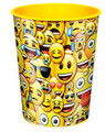 12X Emoji Plastic 16 Ounce Reusable Keepsake Favor Cup ( 12 Cups )