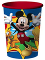 Mickey Mouse, Donald, Pluto Red Plastic 16 oz Reusable Souvenir Cup (1 Cup)