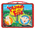 Phineas Ferb Agent P Perry Small Square Tin Lunch Box - Red