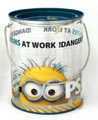 "Despicable Me Minions Clear Paint Canister with Tin Lid - ""At Work"""