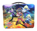 Bakugan Square Carry All Tin Stationery Lunch Box Lunchbox - Blue