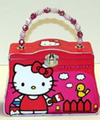 Hello Kitty Tin Stationery Beaded Clutch Purse -  Painting the fence