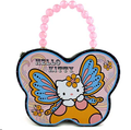 Hello Kitty Butterfly Shape Carry All Tin Purse - Purple