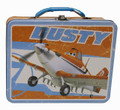 Planes Square Carry All Tin Stationary Lunch Box - Dusty