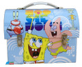 Spongebob Squarepants Dome Tin School Lunchbox Lunch Box - Blue