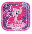 My Little Pony Small 7 Inch Square Party Cake Dessert Plates - Pink / Purple