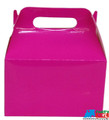 12X Solid Color Hot Pink Paper Treat Boxes