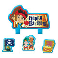 Jake and the Neverland Pirates 4 Piece Molded Candle