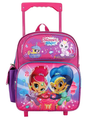 Shimmer and Shine 12 inch Toddler Rolling Backpack