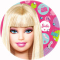 Barbie Large 9 Inch Round Lunch Dinner Plates