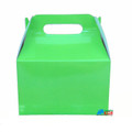 12X Solid Color Lime Green Paper Treat Boxes