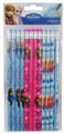 Frozen - Anna, Elsa Sky-blue/Pink/Blue-gray Wooden Pencils (12 pcs)